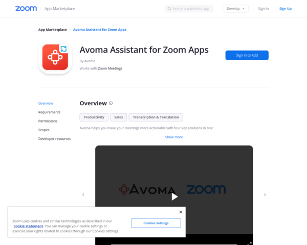 https://marketplace.zoom.us/apps/nUlTmBEDS-a05pftJlFeOA