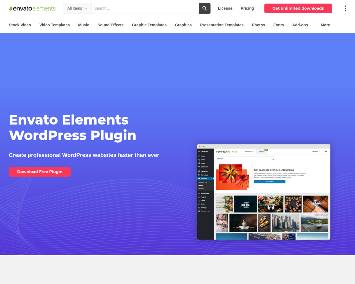 Elements for WordPress : Free templates & premium stock photos from