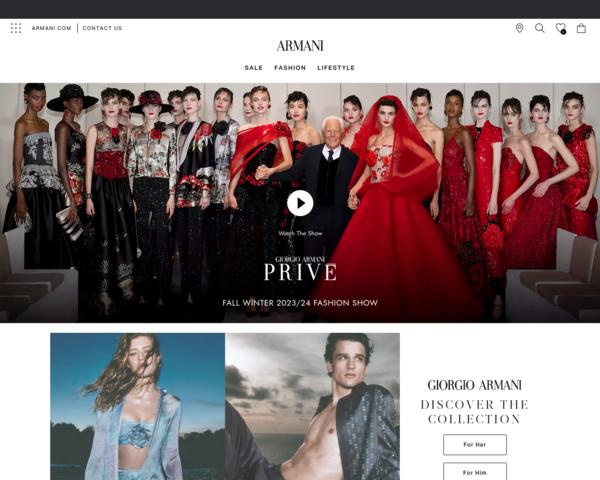 http://www.armani.com