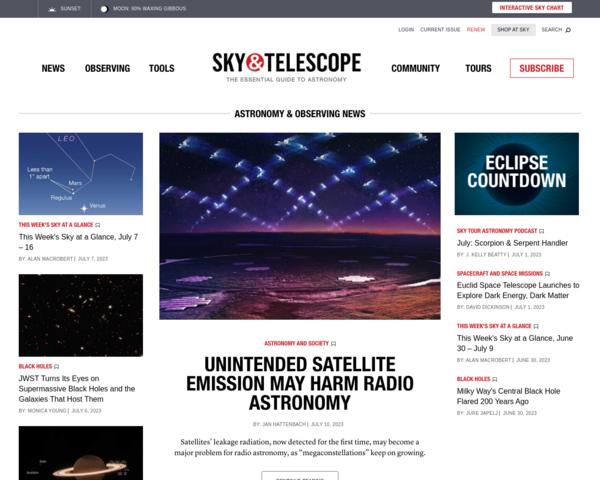 http://www.skyandtelescope.com