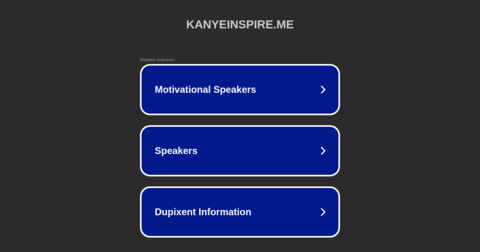 Kanye, Inspire Me.