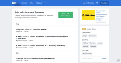 Designer News Jobs