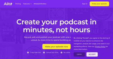 Alitu: the Podcast Maker
