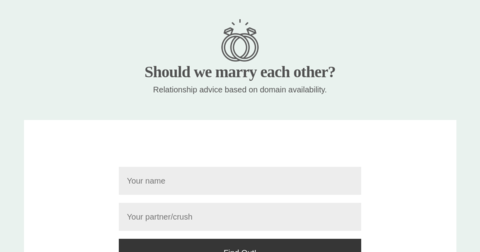 Should We Marry Each Other?