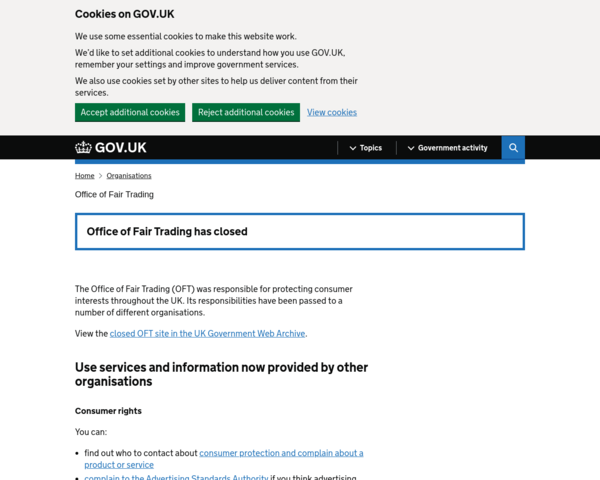 http://www.oft.gov.uk