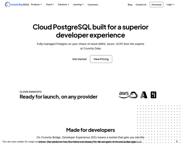 https://www.crunchydata.com/products/crunchy-bridge/