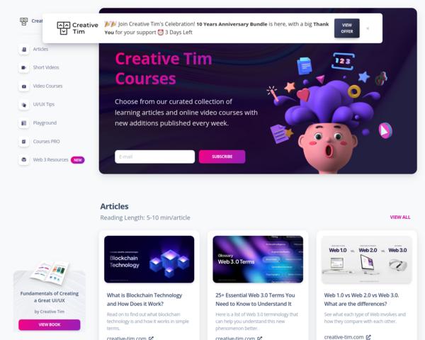 https://www.creative-tim.com/courses