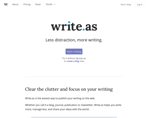 https://write.as