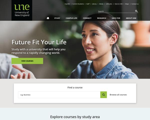 http://www.une.edu.au