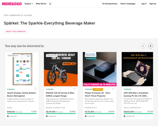 https://www.indiegogo.com/projects/sparkel-the-sparkle-everything-beverage-maker