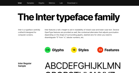 The Interface Font Family