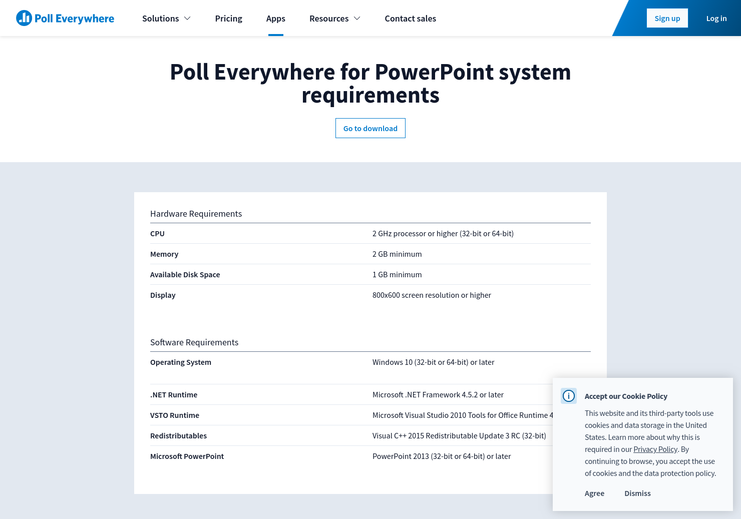 Poll Everywhere for PowerPoint system requirements | Poll