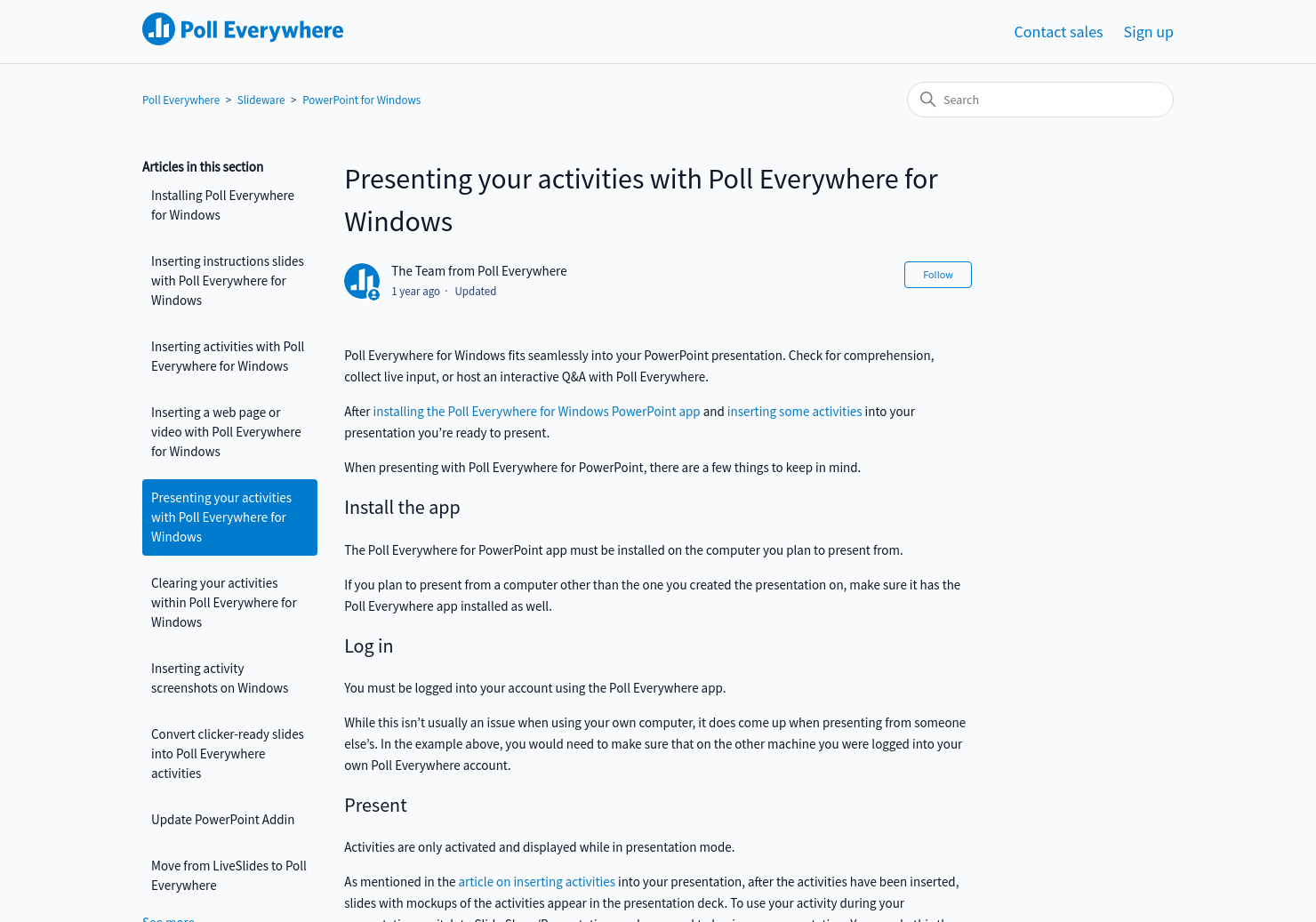 Presenting your activities with Poll Everywhere for Windows | Poll
