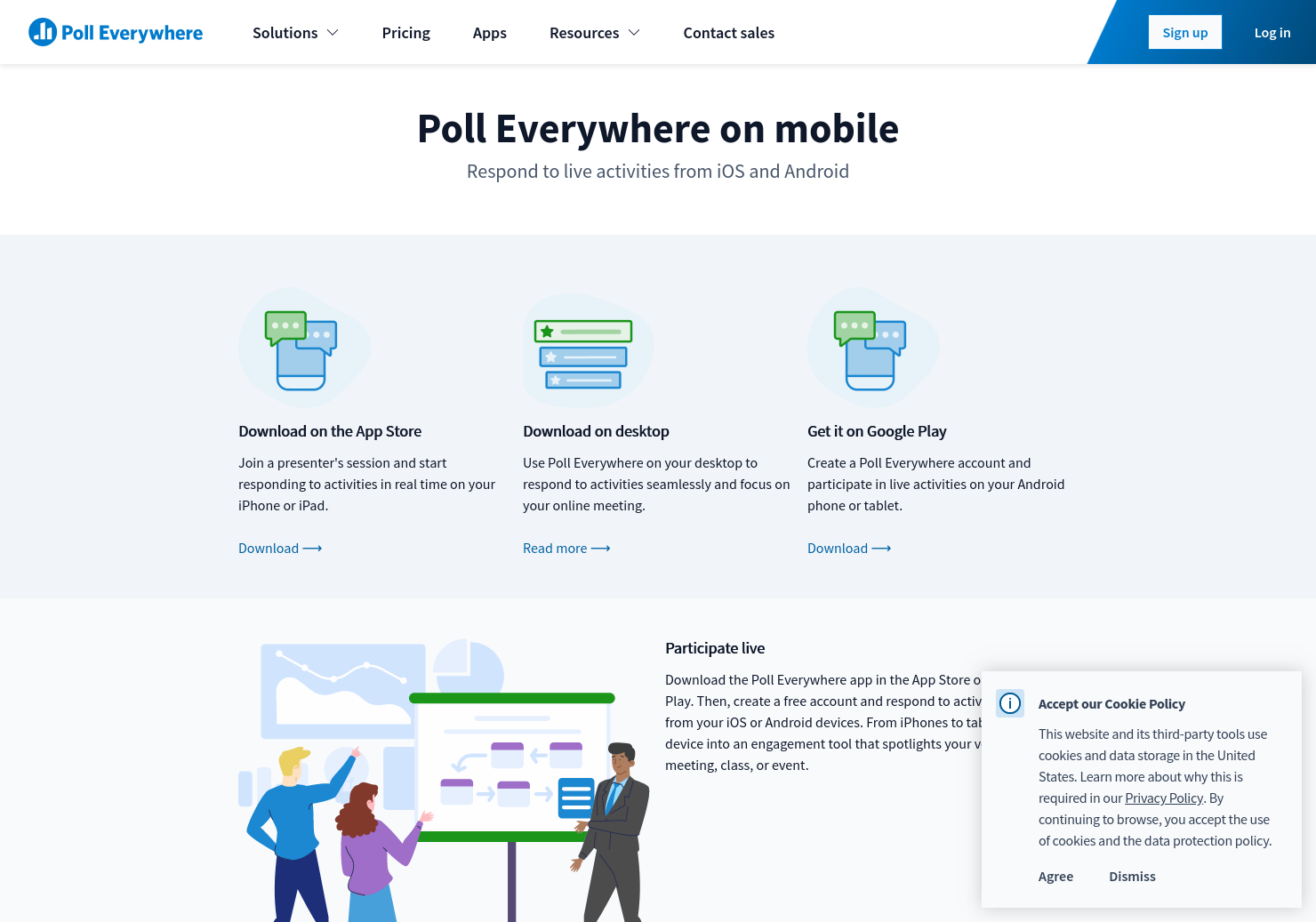 Respond to activities with Poll Everywhere mobile app | Poll