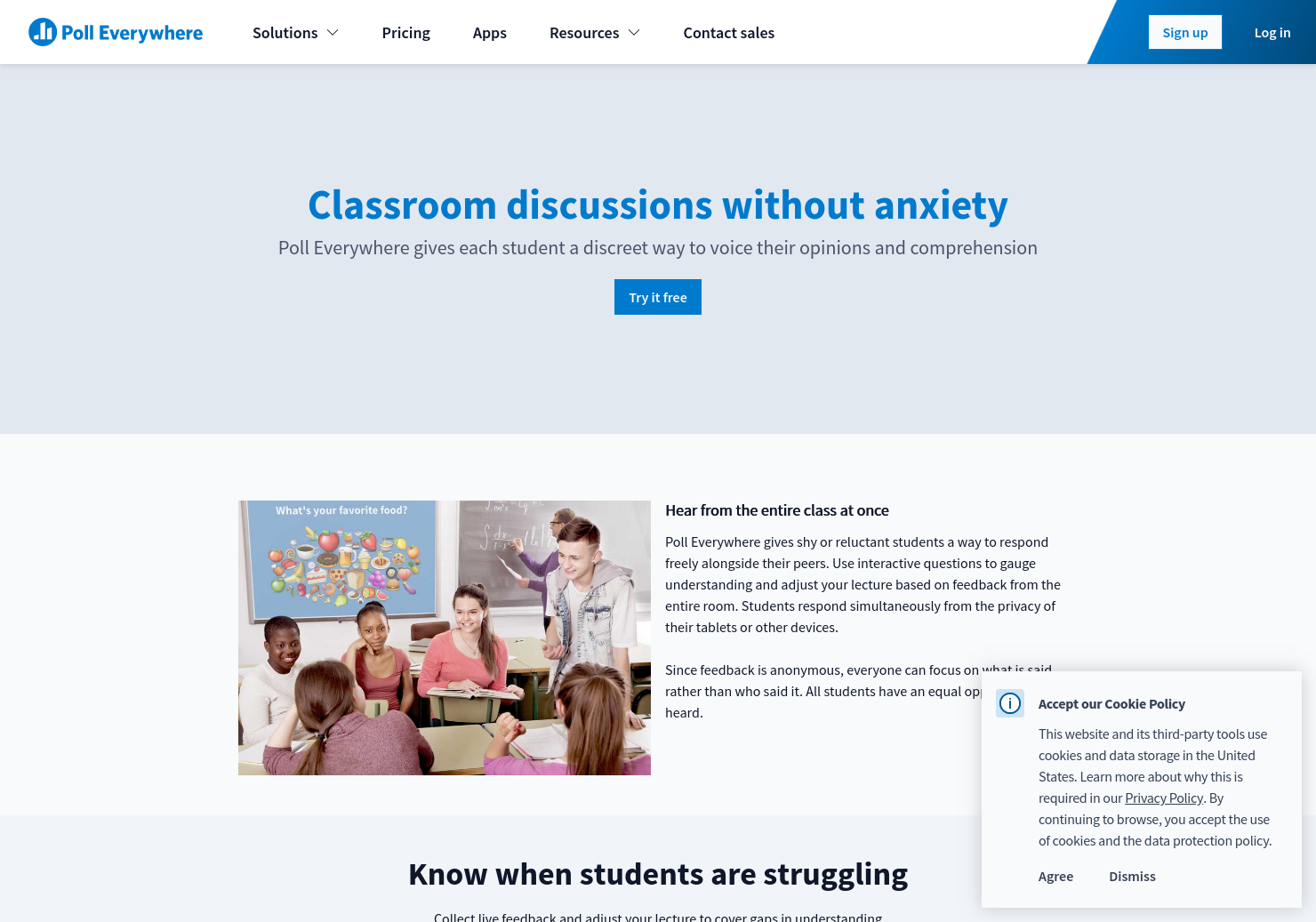 Classroom discussions without anxiety   Poll Everywhere