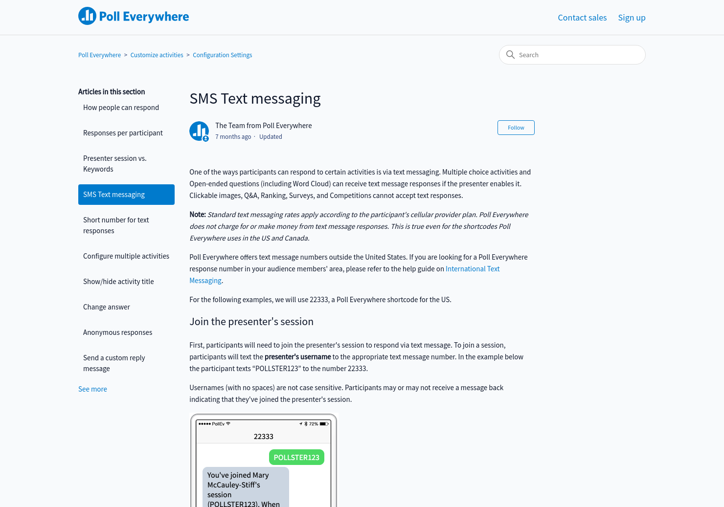 SMS Text messaging | Poll Everywhere