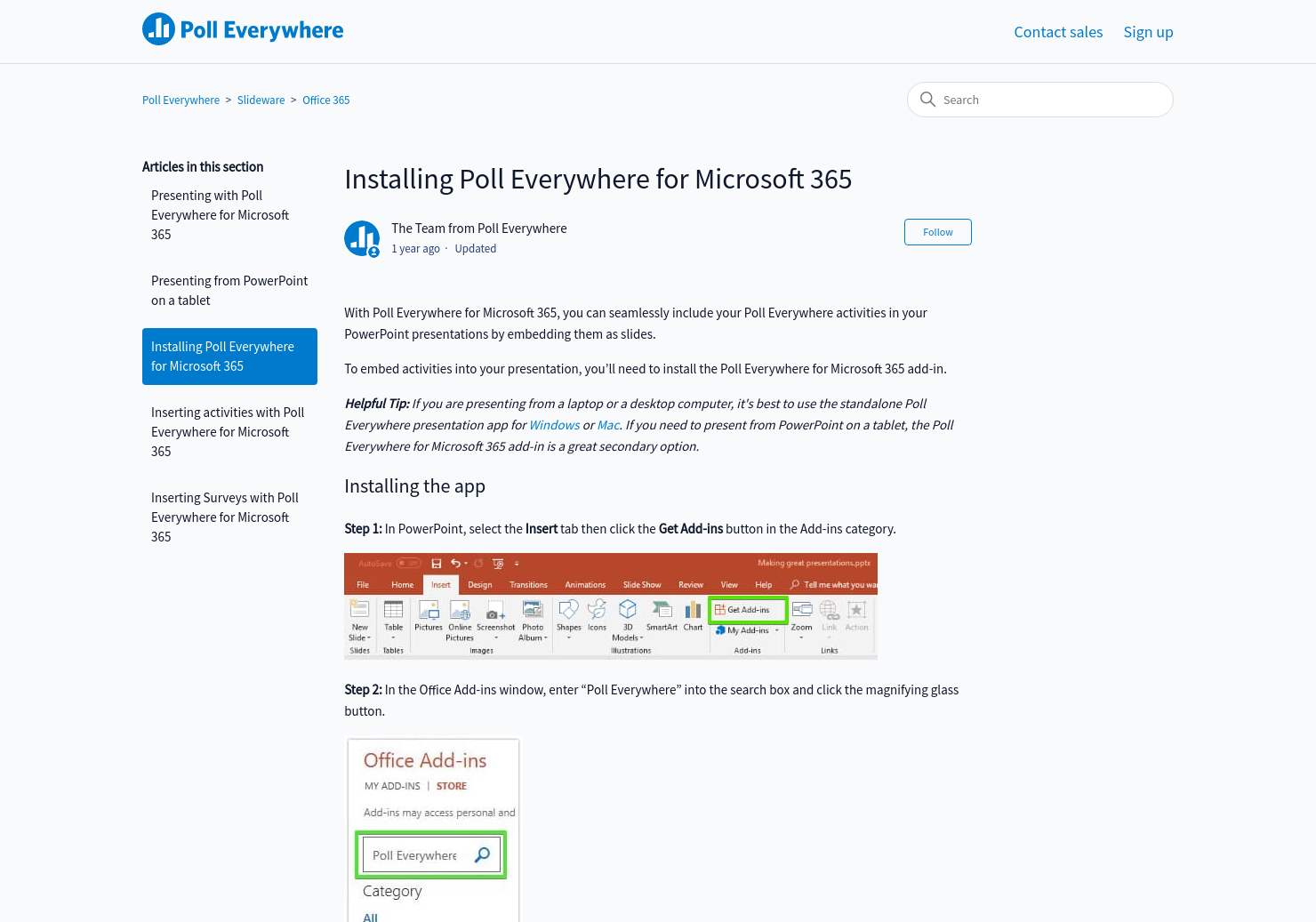 Installing Poll Everywhere for Office 365 | Poll Everywhere