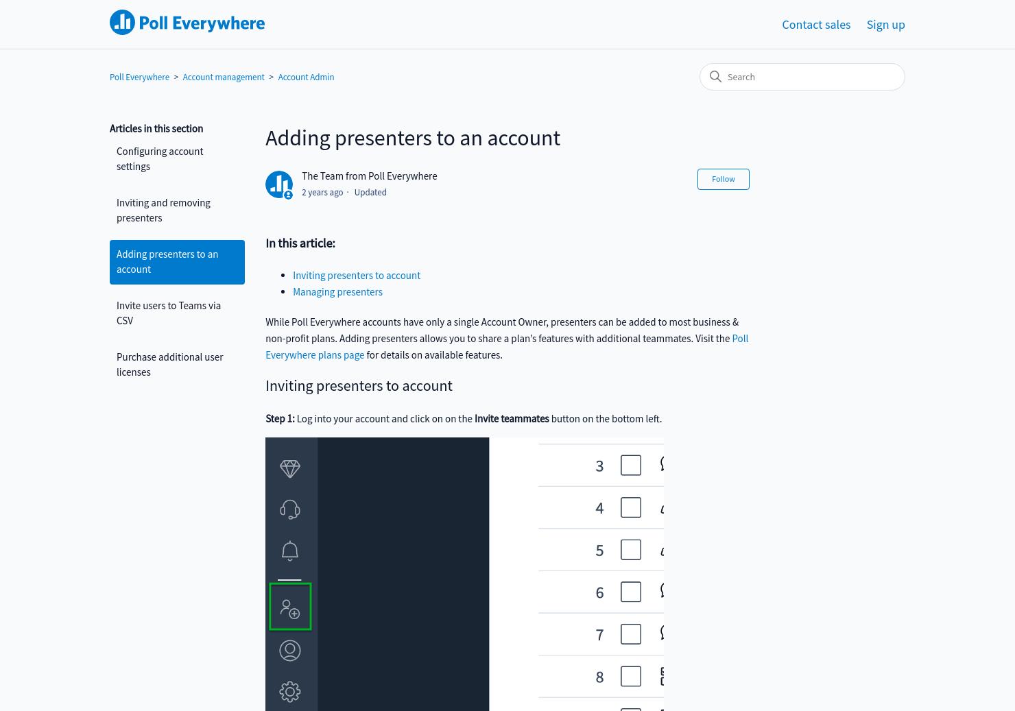 Adding sub-users | Poll Everywhere