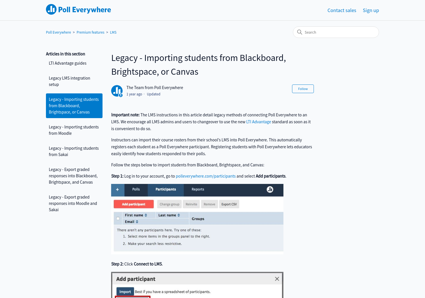 Importing students from Blackboard, Brightspace, or Canvas