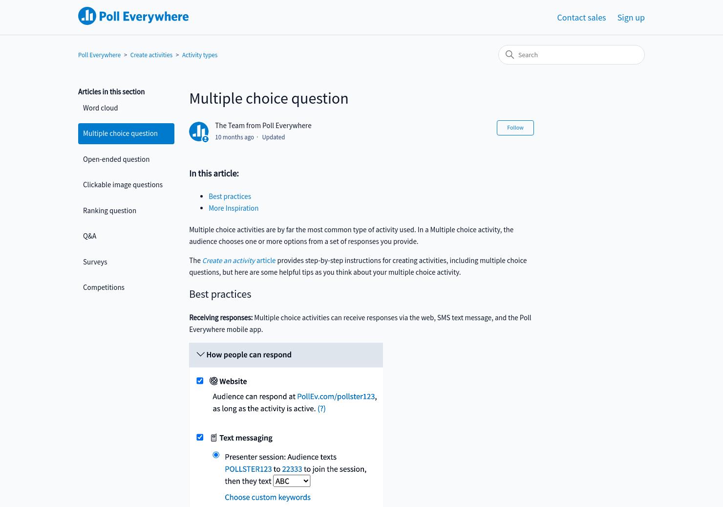 Multiple choice question | Poll Everywhere