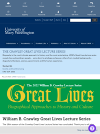 The Crawley Great Lives Lecture Series