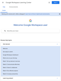 Google Workspace Learning Center