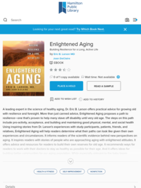 Enlightened Aging - Hamilton Public Library - OverDrive