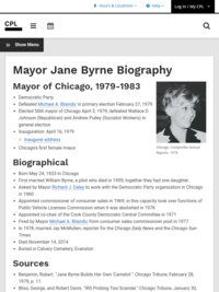 Jane Byrne—Chicago Public Library Page