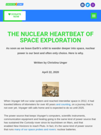 The Nuclear Heartbeat of Space Exploration