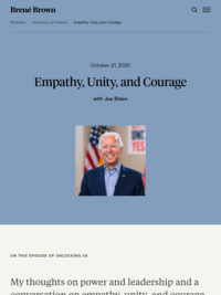 Brené with Joe Biden on Empathy, Unity and Courage | Brené Brown