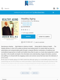 Healthy Aging - Hamilton Public Library - OverDrive