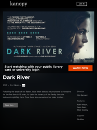Dark River | Kanopy