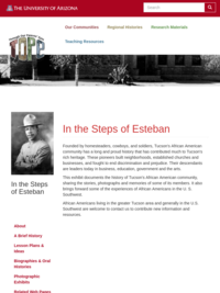In The Steps Of Esteban: Tucson's African American Heritage
