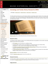 Maine Historical Society: Genealogy and Family History Research at MHS