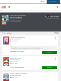 For even more Christmas titles, see this previous list. Christmas titles | Mid-Continent Public Library | BiblioCommons