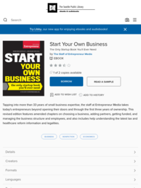 Start Your Own Business - OverDrive