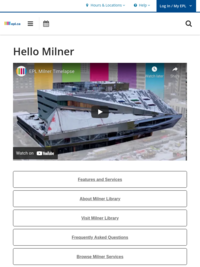 Stanley A. Milner Library Revitalization