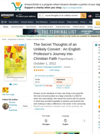 Secret Thoughts of an Unlikely Convert by Rosaria Champagne Butterfield