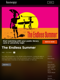 The Endless Summer | Kanopy