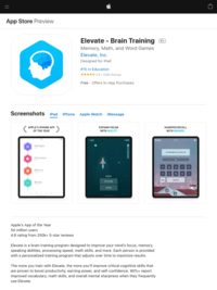 ‎Elevate - Brain Training on the App Store