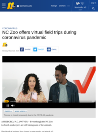 Go on a virtual field trip at the NC Zoo