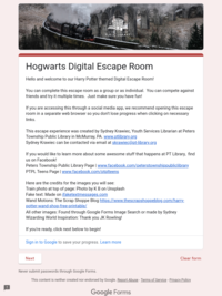 Try Out the Hogwarts Digital Escape Room