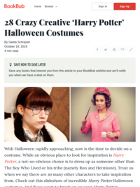 Creative 'Harry Potter' Costumes