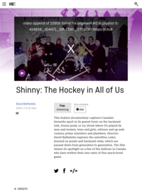 Shinny: The Hockey in All of Us | National Film Board