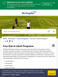 Telepals - Free Dial in Programs for Adults | City of Burlington