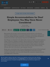 Simple Accommodations for Deaf Employees You May Have Never Considered-SHRM