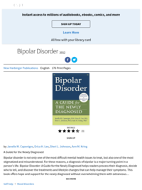 Bipolar Disorder: A Guide for the Newly Diagnosed | by Janelle M. Caponigro, Erica H. Lee, Sheri L. Johnson and Ann M. Kring | ebook | 2012