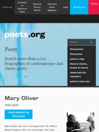 Mary Oliver - Poet | Academy of American Poets