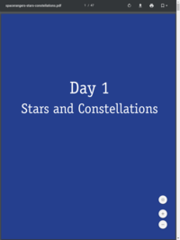 Reading Rockets' Stars and Constellations activity guide