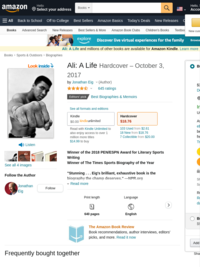 Amazon.com: Ali: A Life (9780544435247): Jonathan Eig: Books
